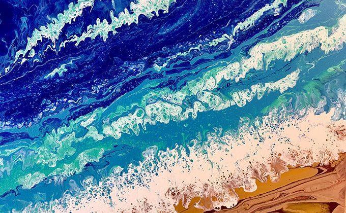 Acrylic Pour Paint Classes